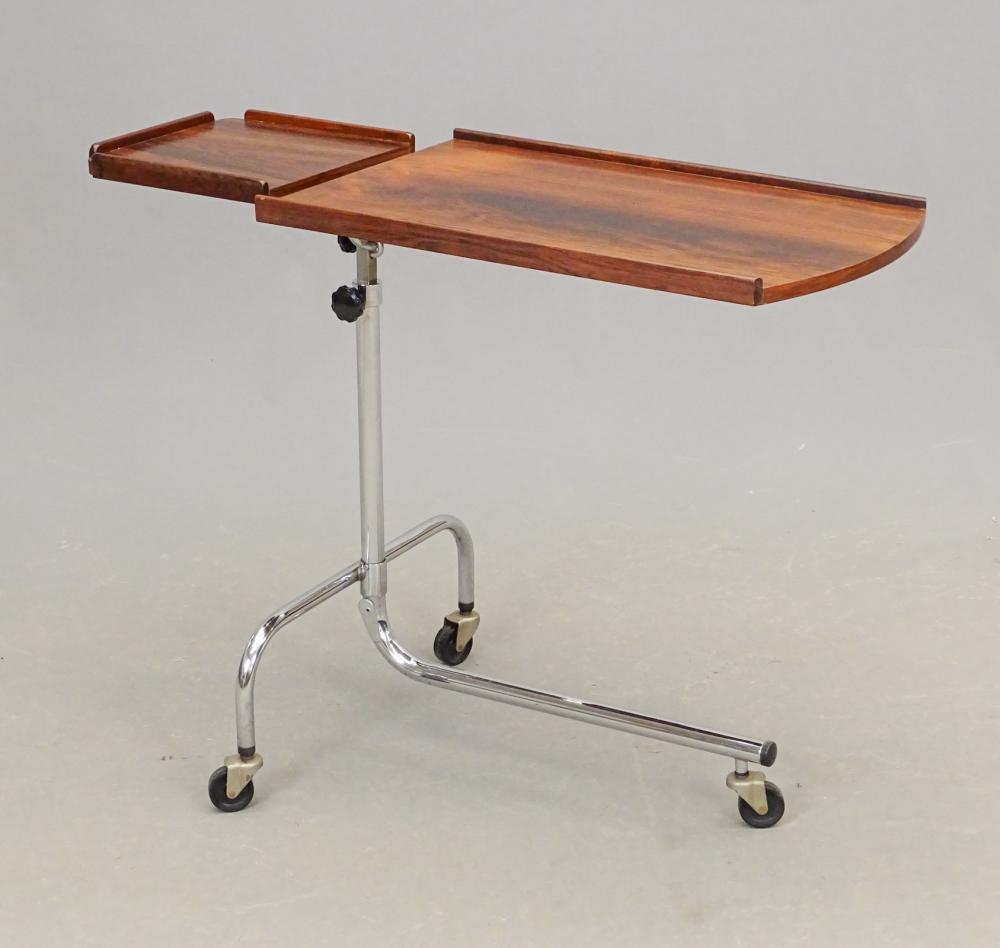 Mid Century Rosewood & Chrome Reading Table