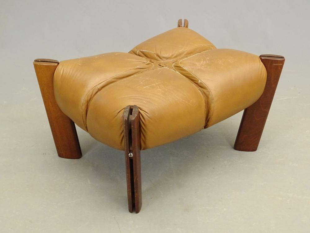 Mid Century Rosewood And Leather Ottoman