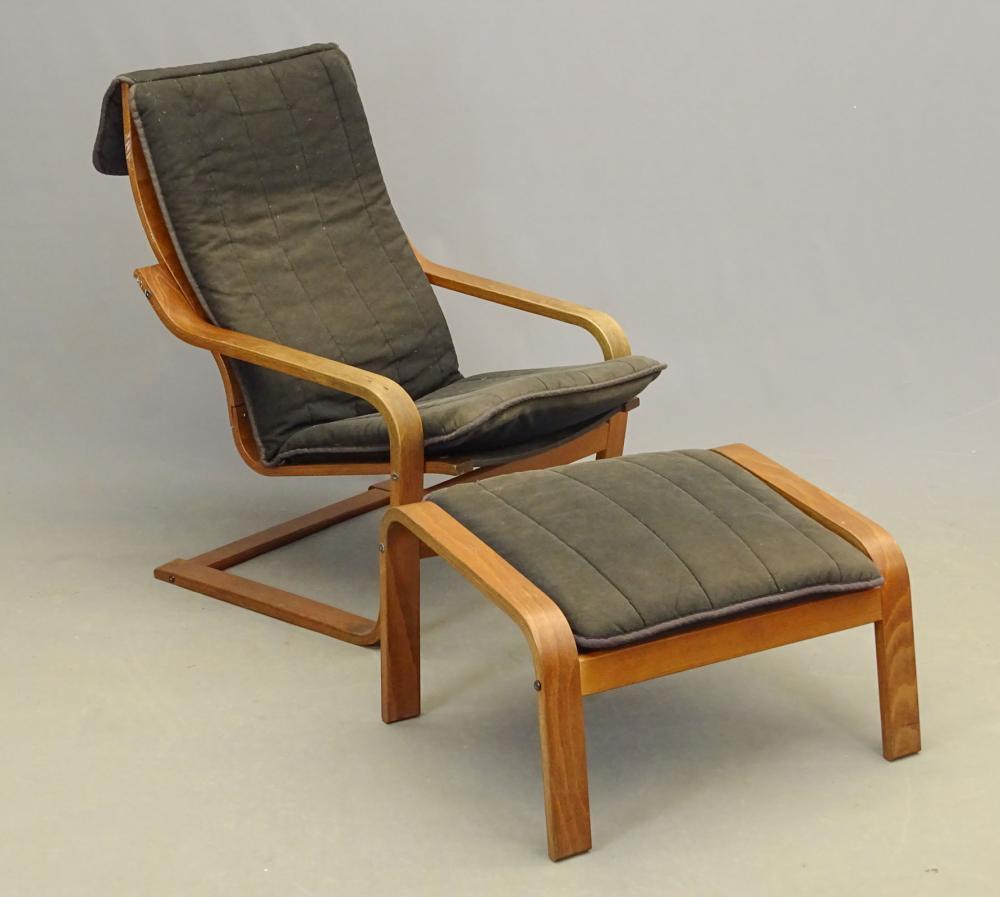 Danish Modern Chair & Ottoman