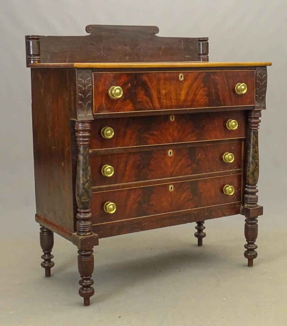 19th Empire Chest Of Drawers