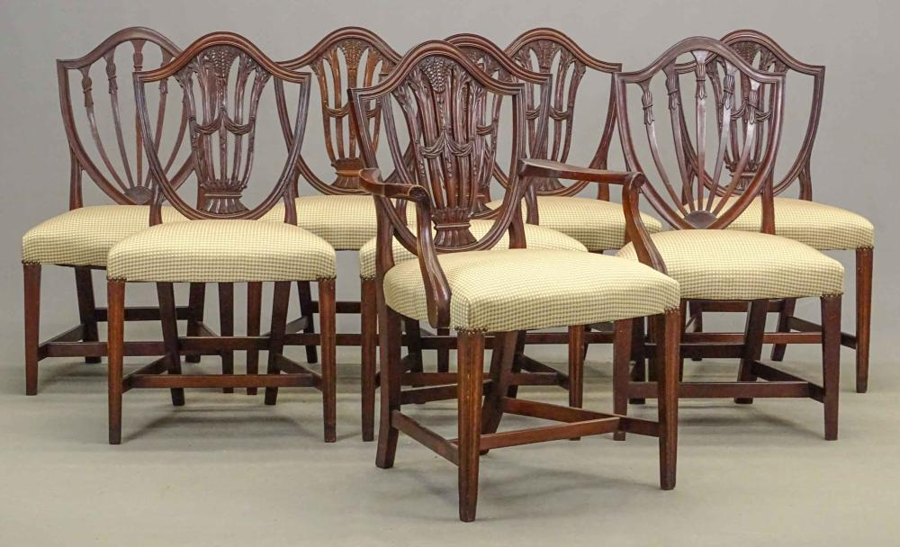 Set of (8) 19th c. Hepplewhite Chairs