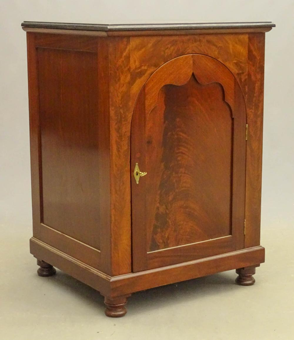 19th c. Empire Marble Top Cabinet