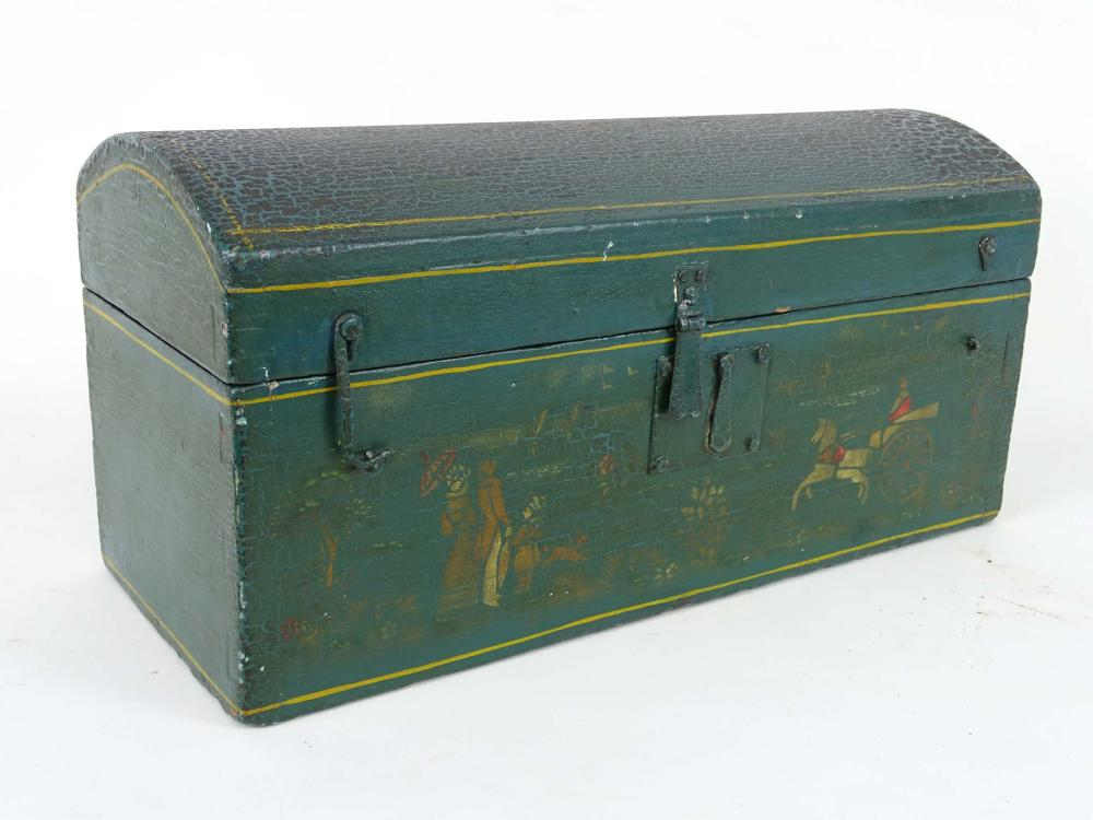 19th c. Dometop Painted Box