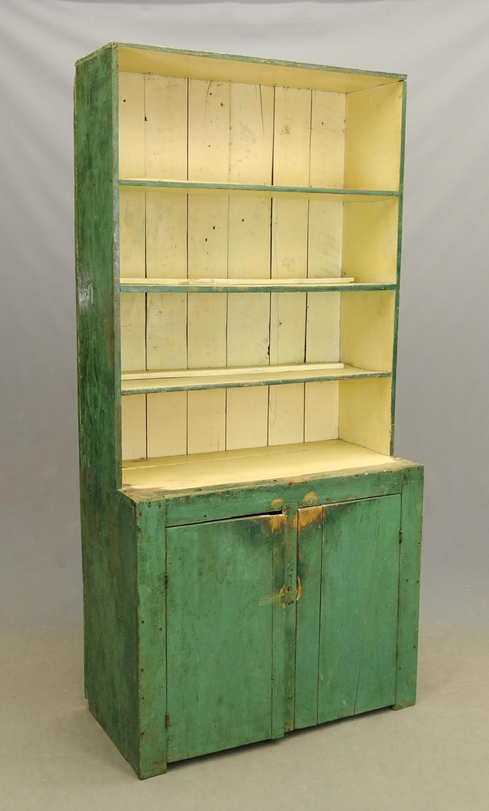 19th c. Primitive Wall Cupboard