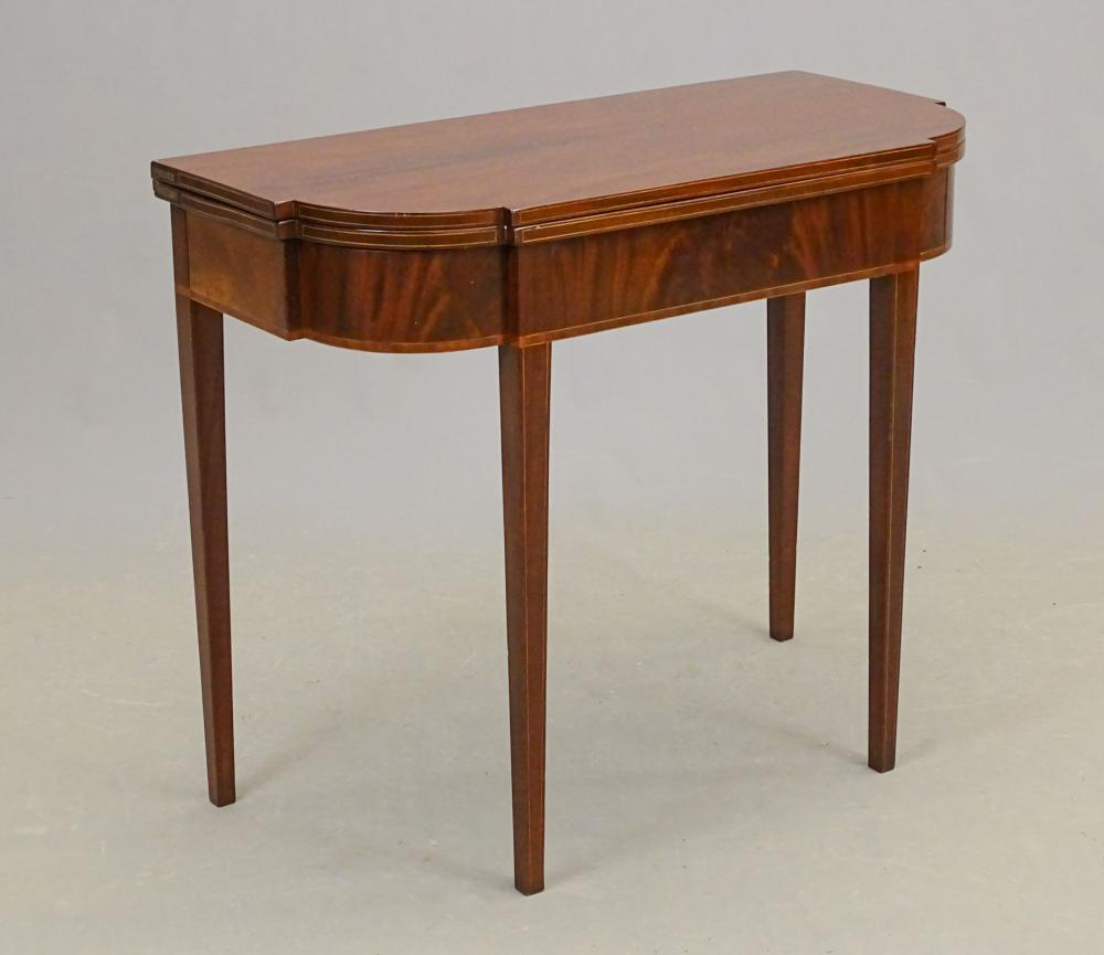 19th c. Federal Inlaid Card Table