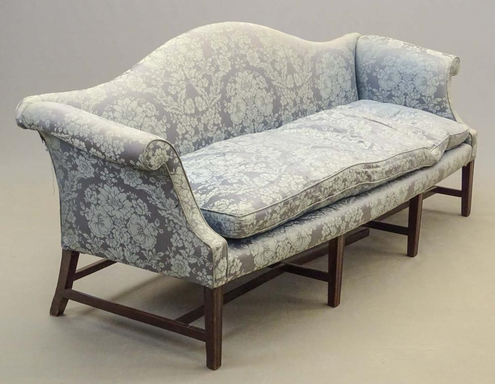 18th c. English Camelback Sofa