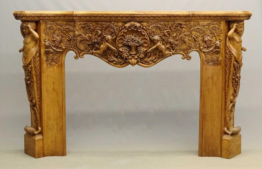 Monumental Fireplace Mantle