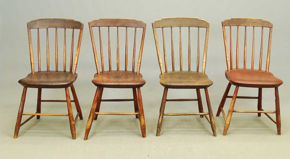 Set Of 19th c. Windsor Chairs