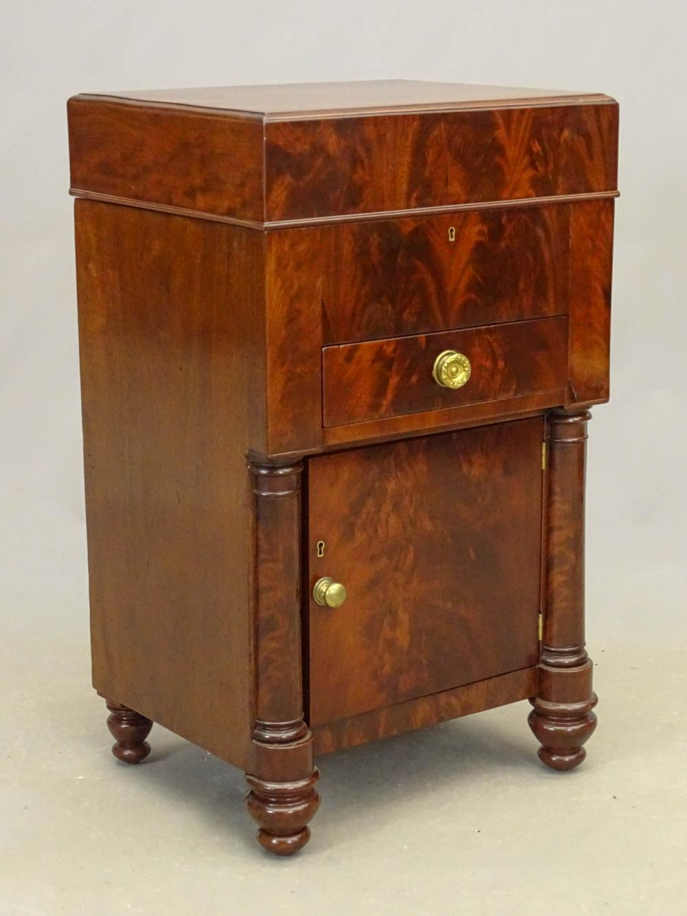 19th c. Empire Mahogany Commode