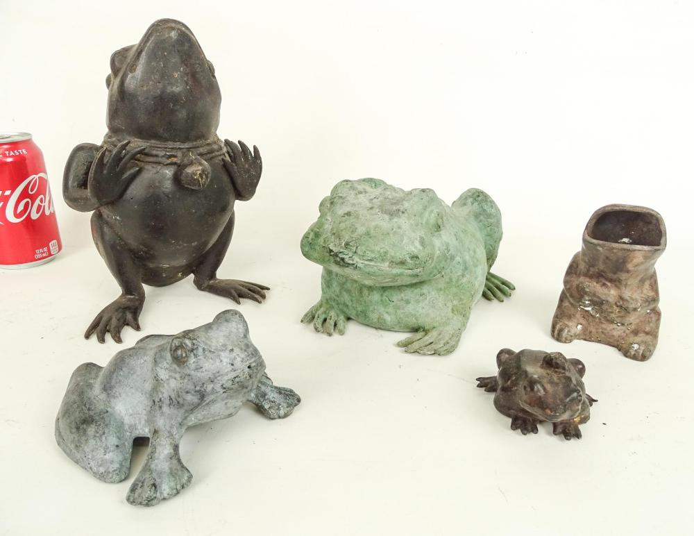 Cast Metal Frogs