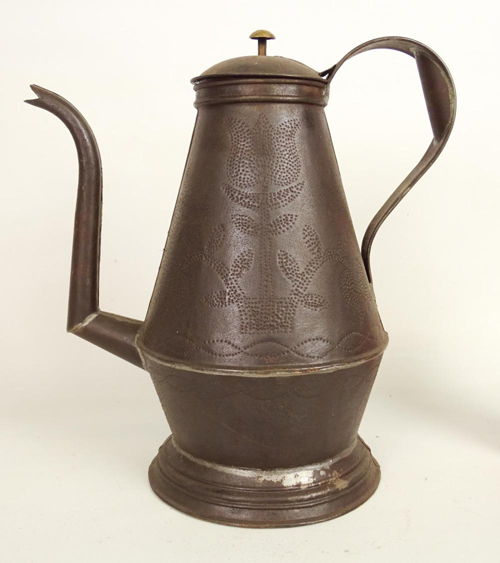 Punched Tin Coffee Pot
