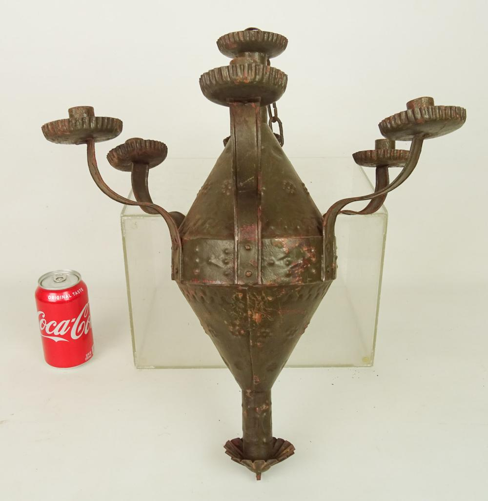 Tin Sand Weighted Candle Chandelier