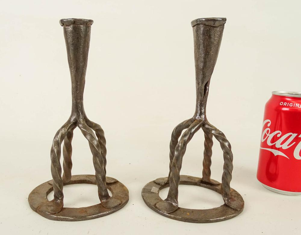 Pair Iron Candlesticks