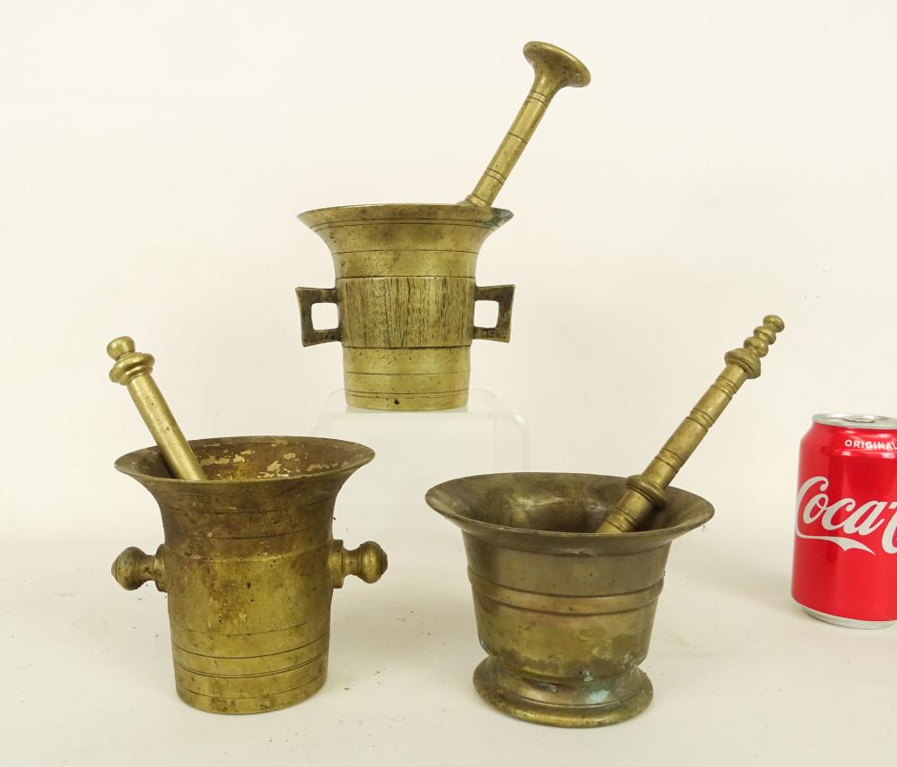 Brass Mortar And Pestles
