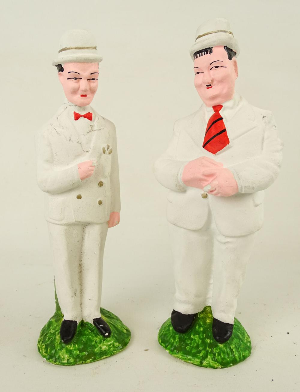 Laurel And Hardy Plaster Carnival Figures