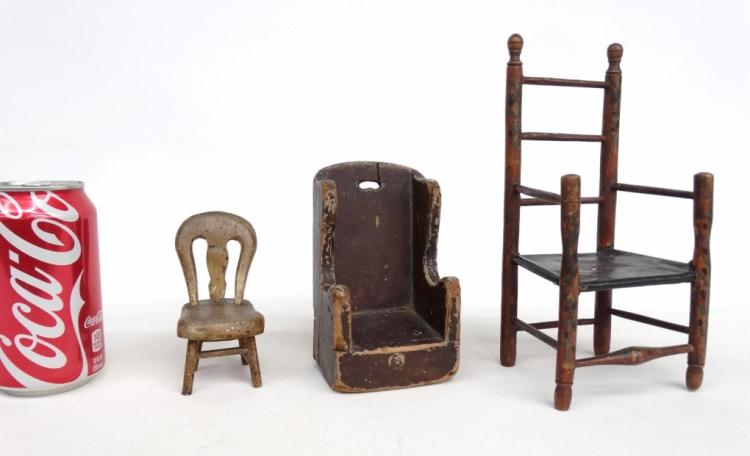 Miniature folk art chairs lot for Furniture 4 a lot less