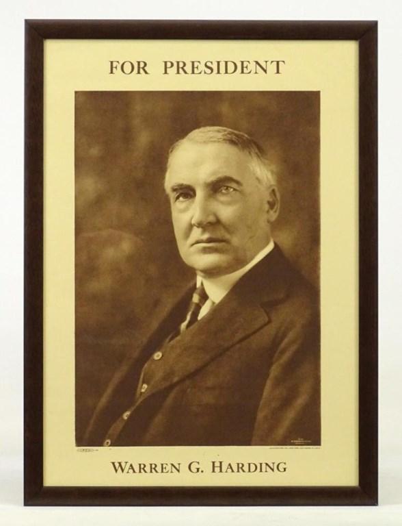 Warren G. Harding Campaign Poster