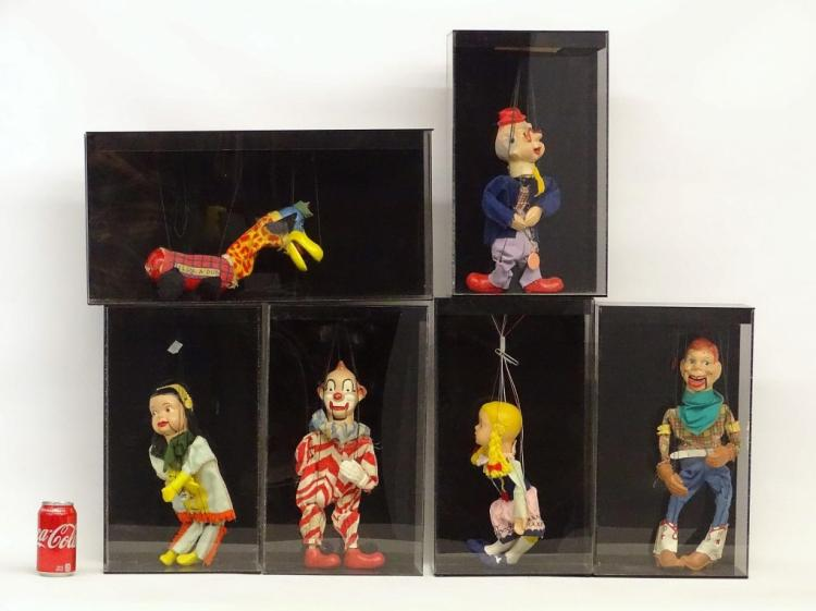 Puppets In Shadowbox Cases