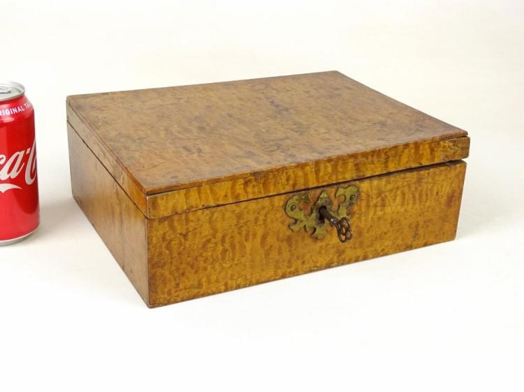 Tiger Maple Document Box