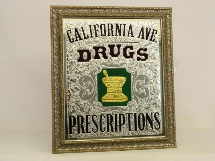 Reverse Painted Drug Store Sign