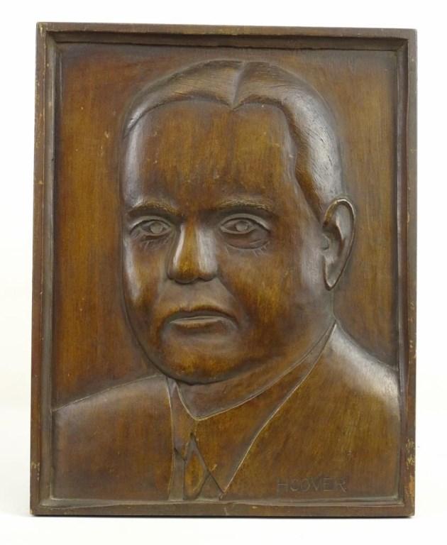 Wooden Plaque Of Hoover