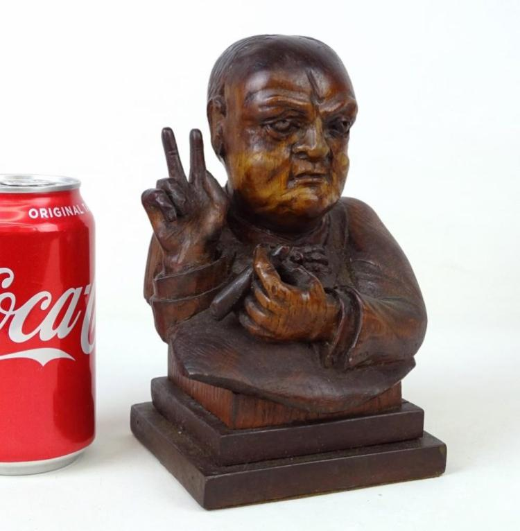 Winston Churchill Wood Carving