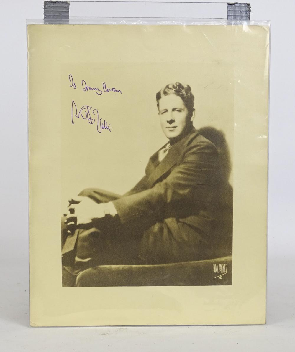 Rudy Vallee Autographed Photograph