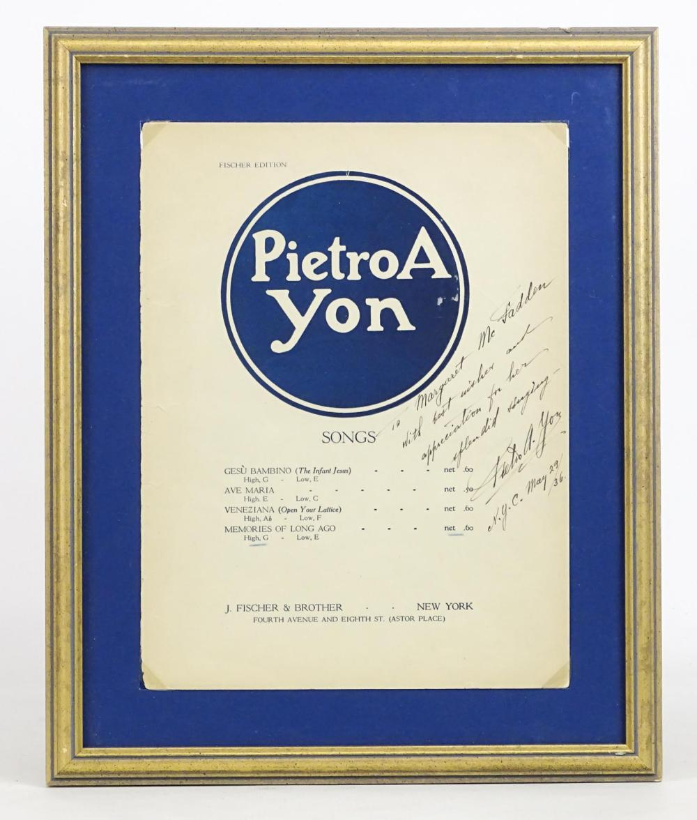 Autographed Sheet Music
