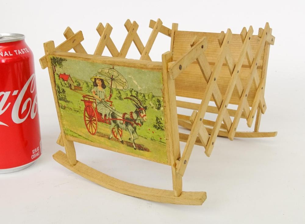 German Fold Out Toy Cradle