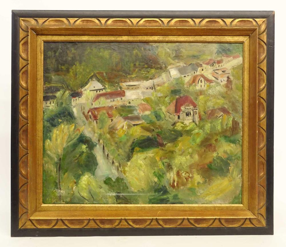 Painting, Landscape With Houses