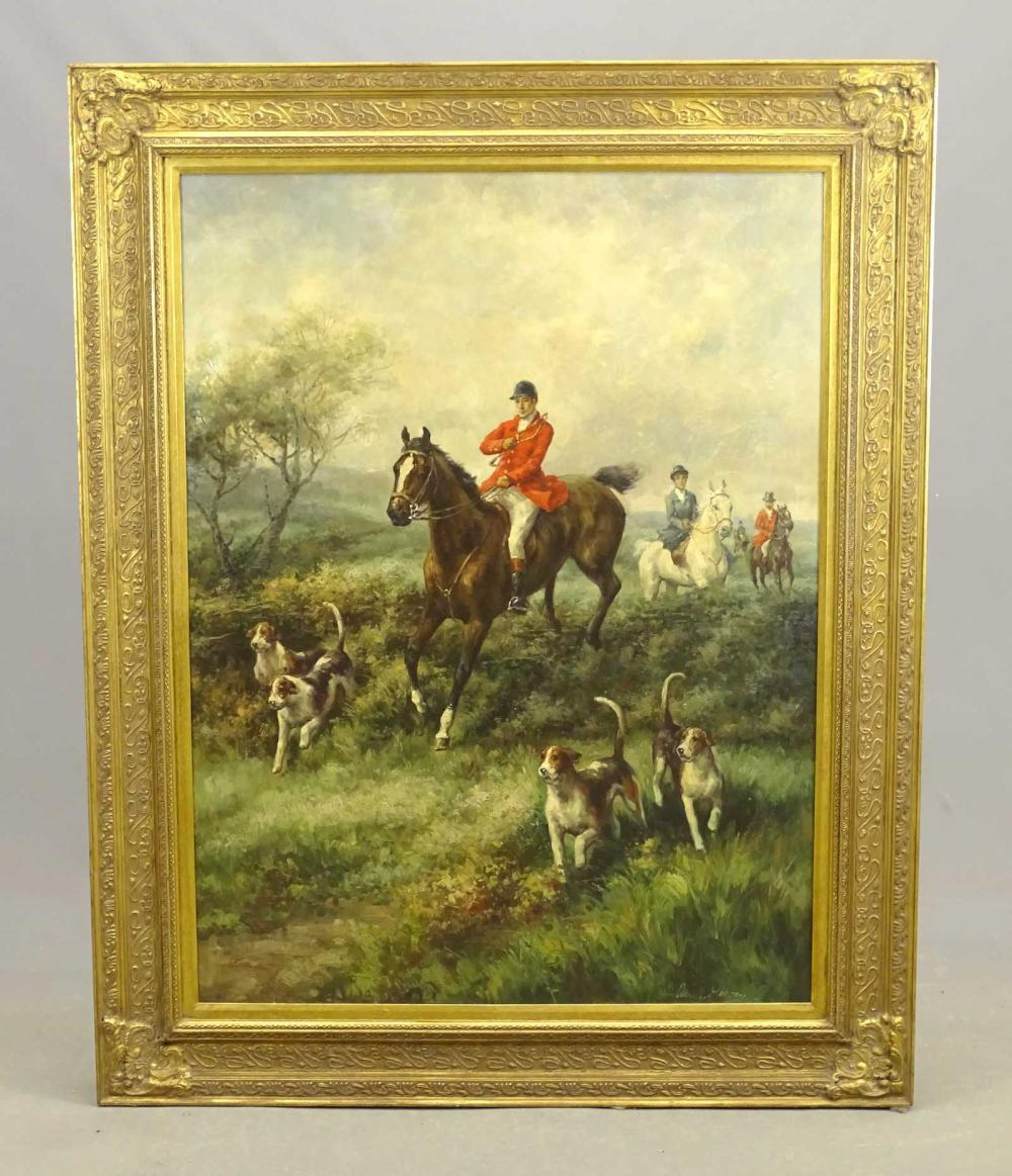 Large Painting (Processed), Hunting Scene