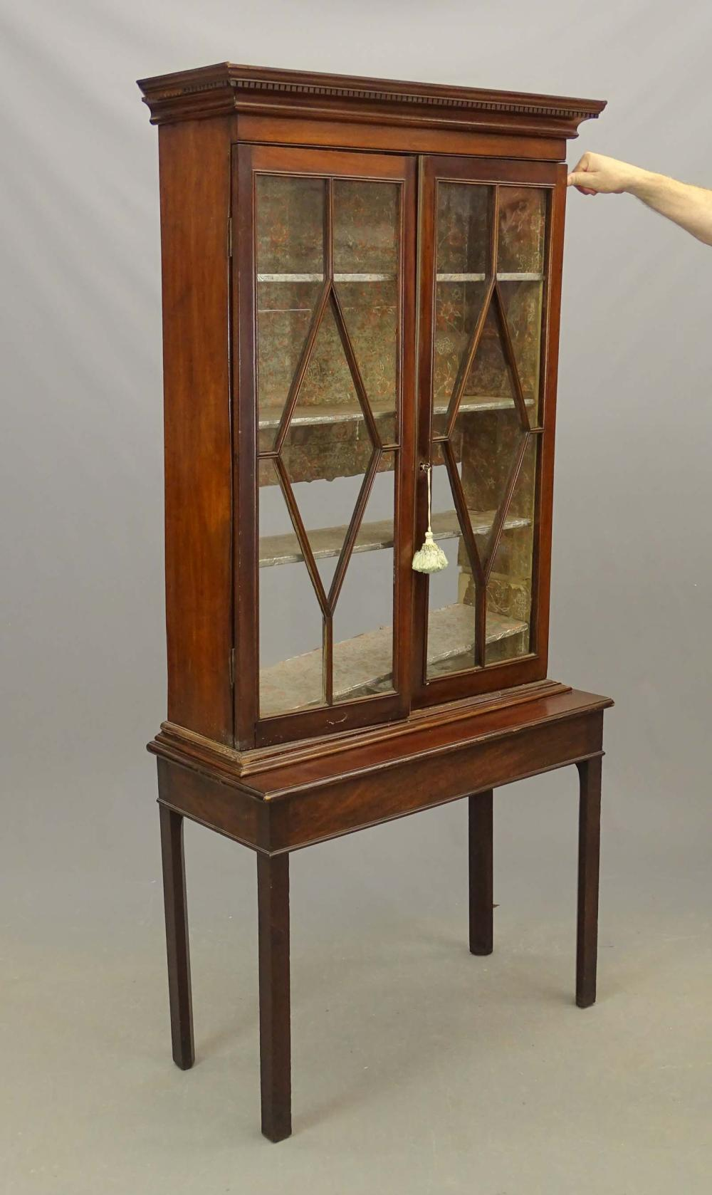 19th c. Chippendale China Cabinet
