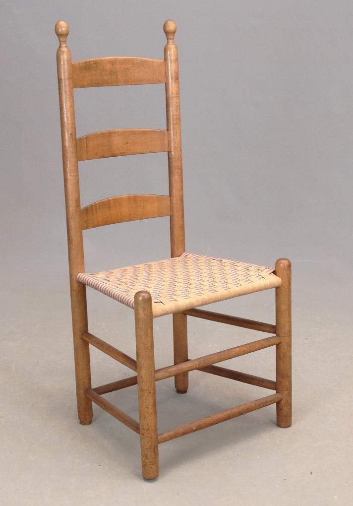 19th C New Lebanon Shaker Side Chair