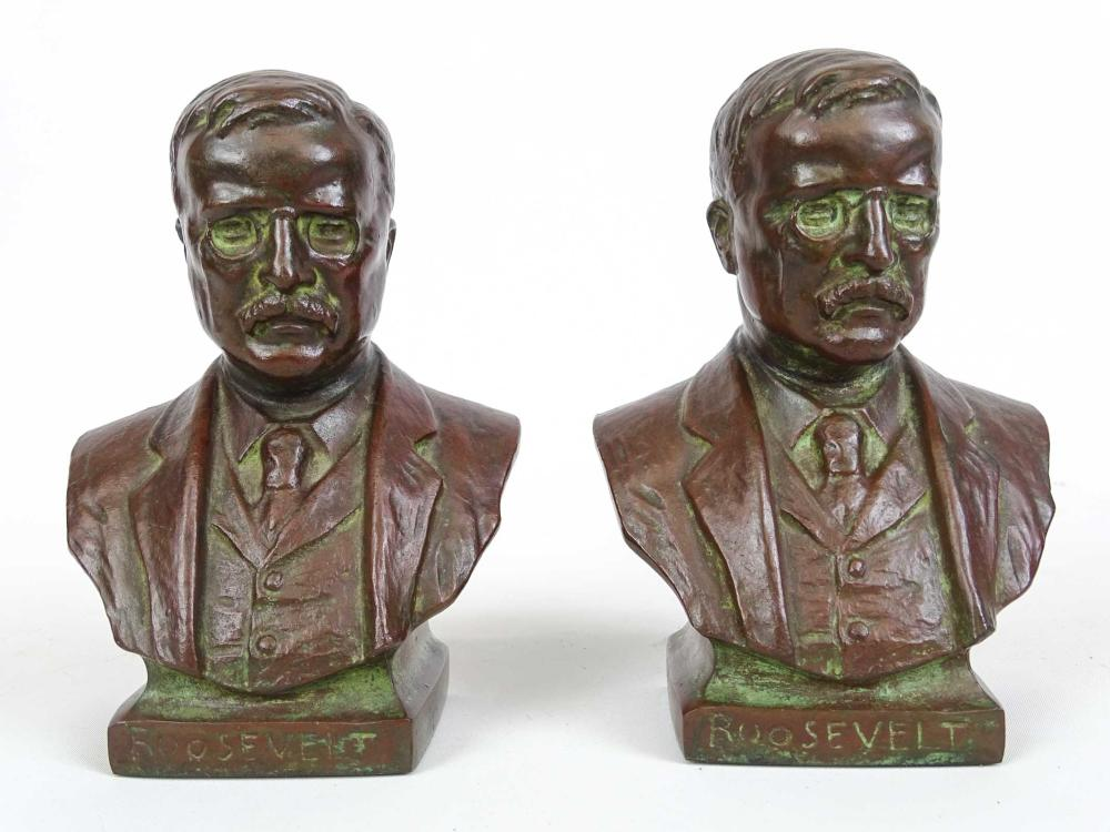 Pair Theodore Roosevelt Bookends