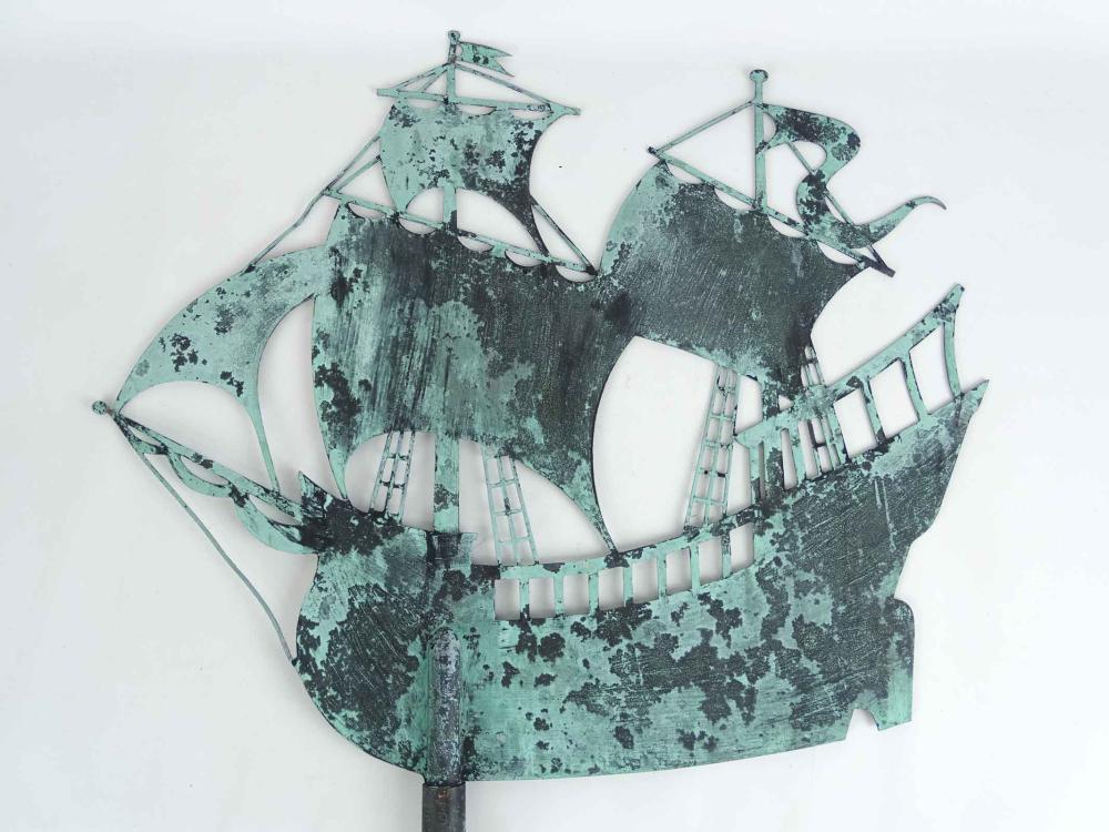 Galleon Silhouette Weathervane