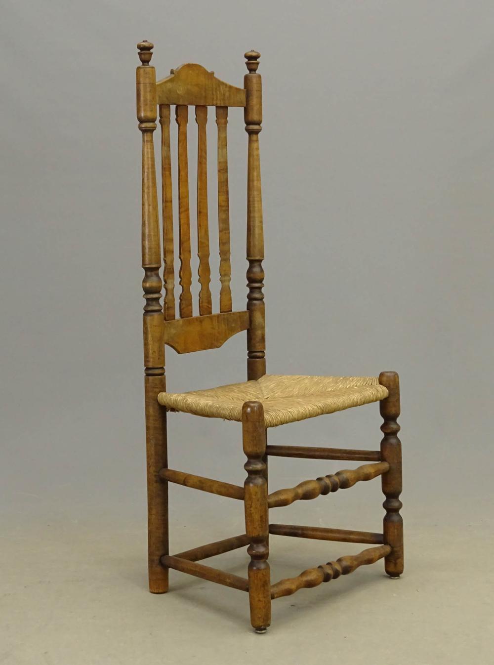 18thc . Banister Back Chair