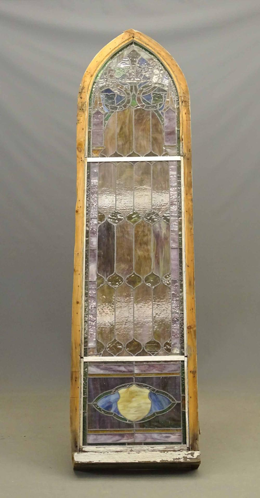 19th c. Stained Glass Window