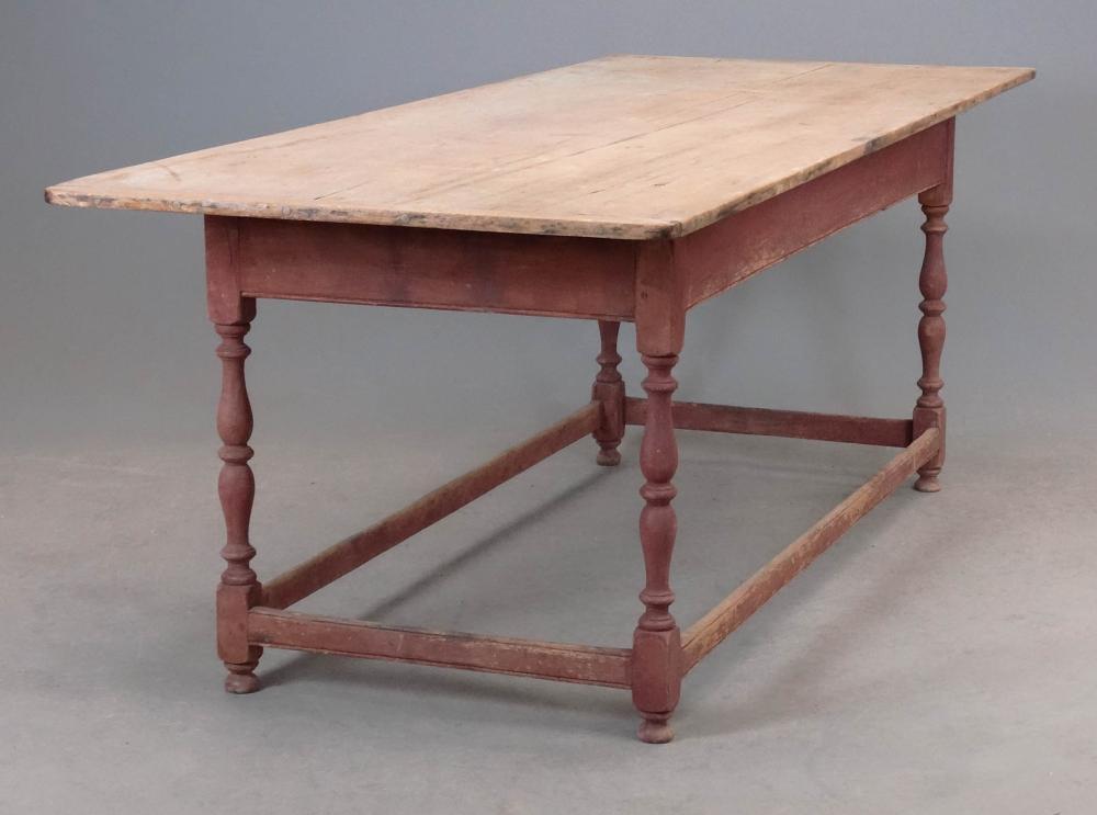 19th c. Stretcher Base Farm Table