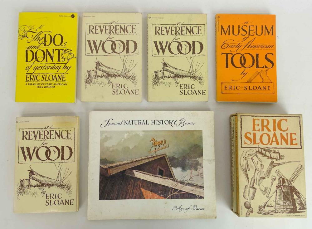 Eric Sloane Book Lot