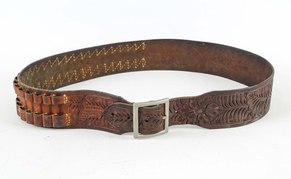 Leather Bullet Belt
