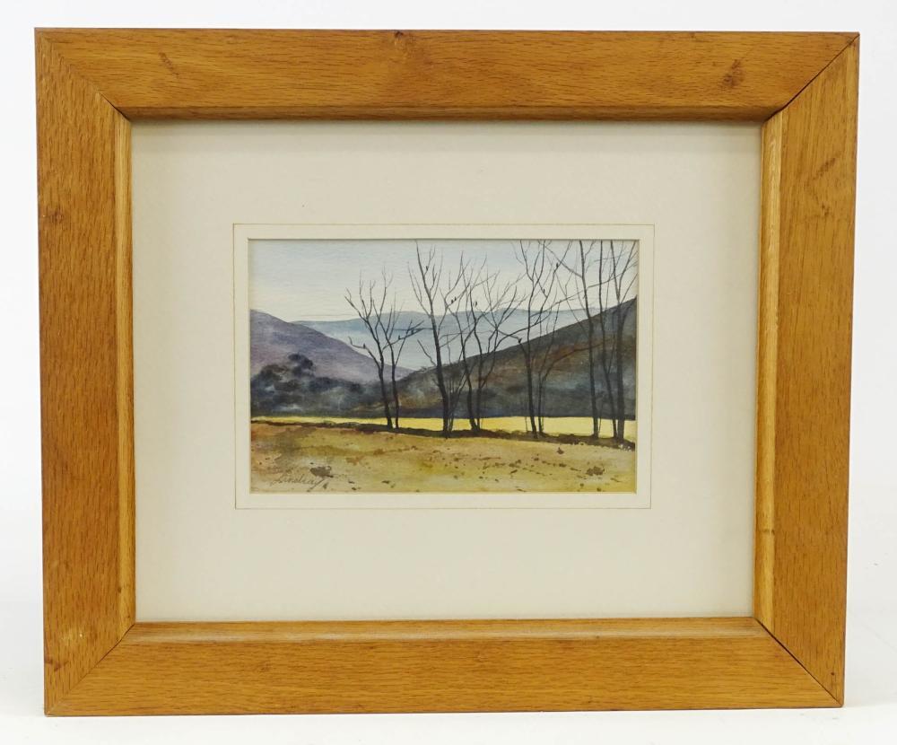 American School, Watercolor Landscape