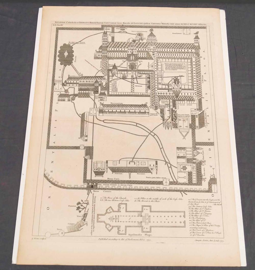 Canterbury Cathedral Early Architecture Print