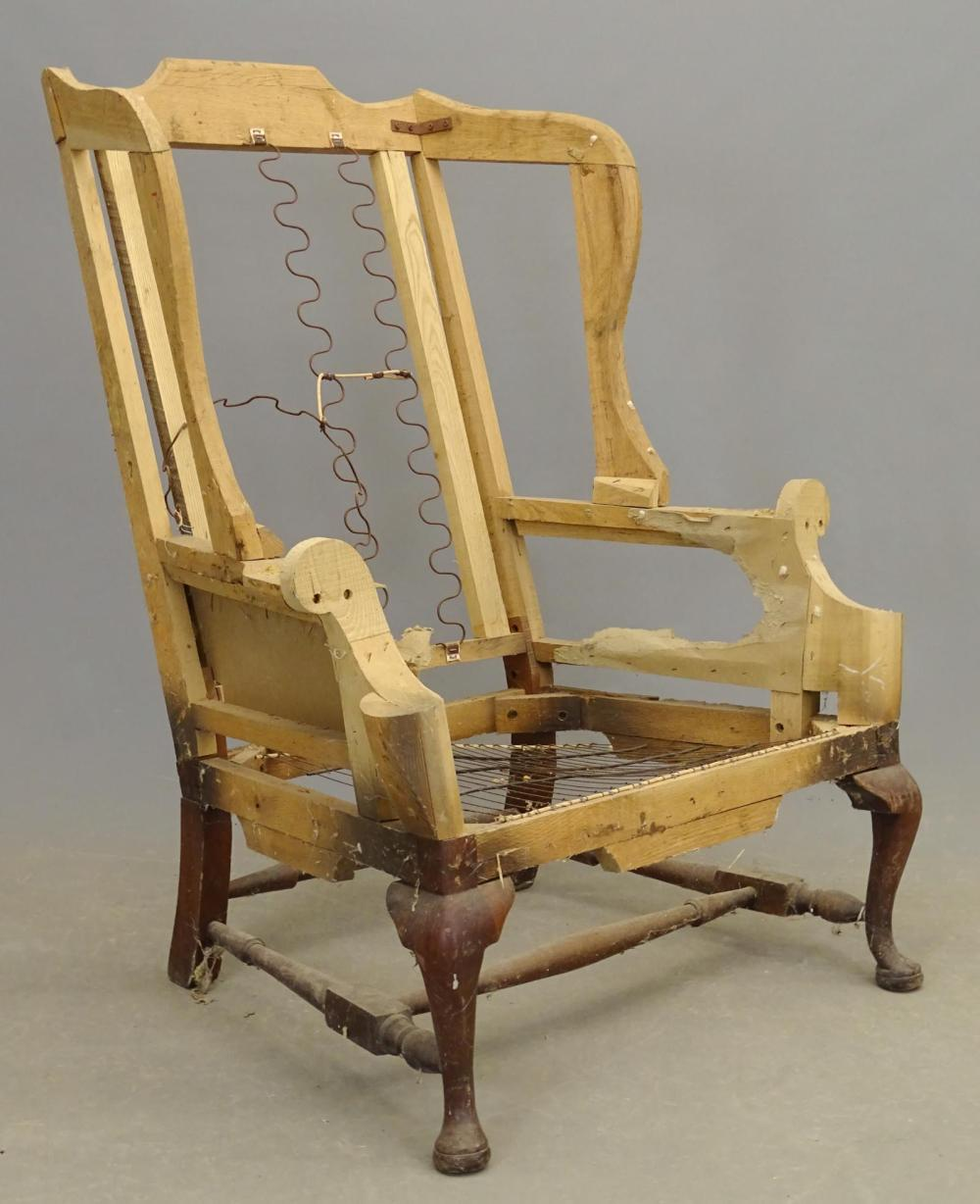 Excellent Queen Anne Style Wing Chair Frame Gamerscity Chair Design For Home Gamerscityorg