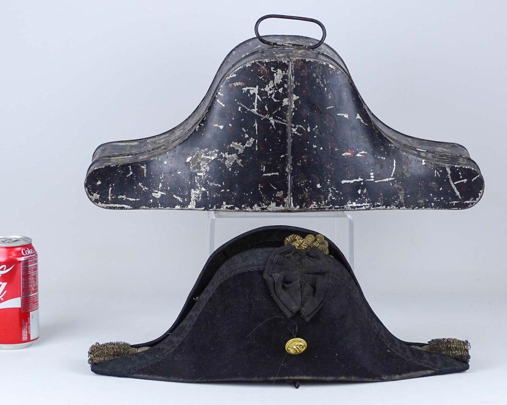 Early Naval Military Hat In Fitted Case