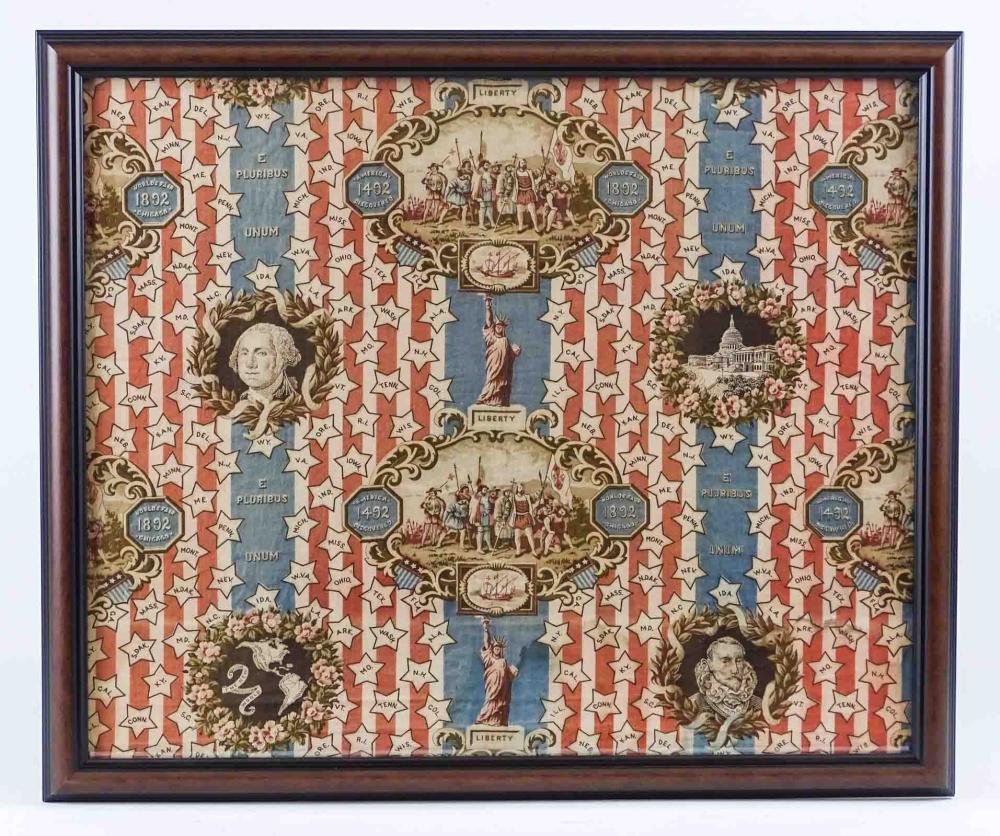 1892 Chicago Worlds Fair Textile