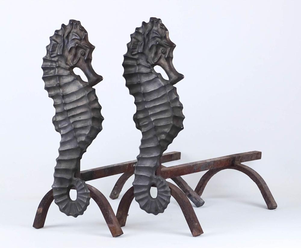Seahorse Andirons