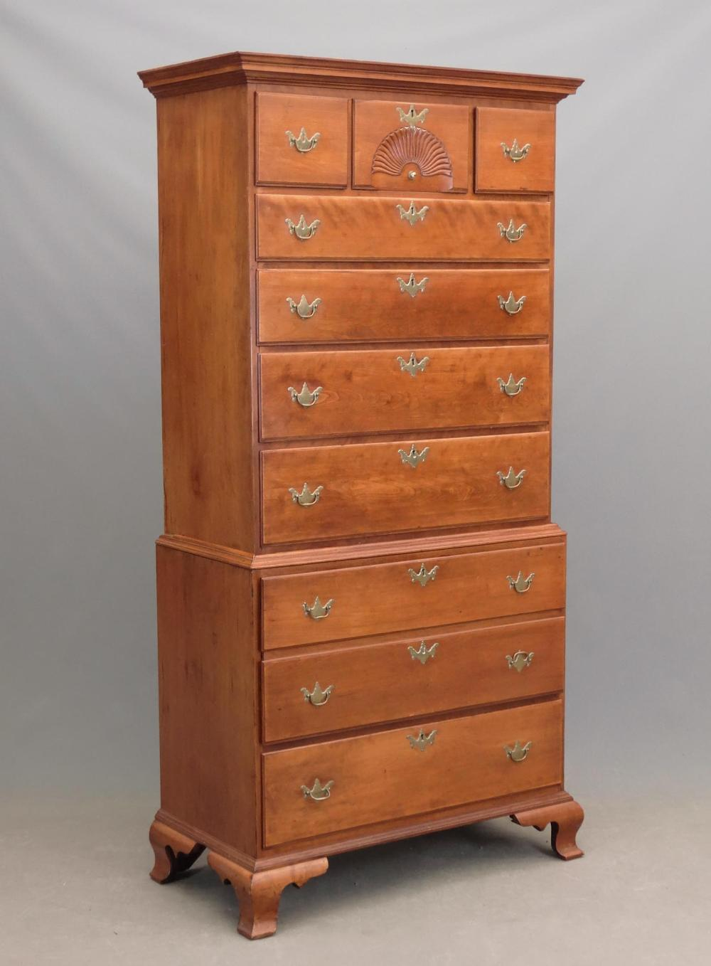 18th c. New Hampshire Chest On Chest