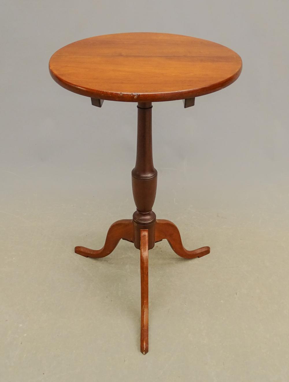 19th c. Cherry Tilt Top Candlestand