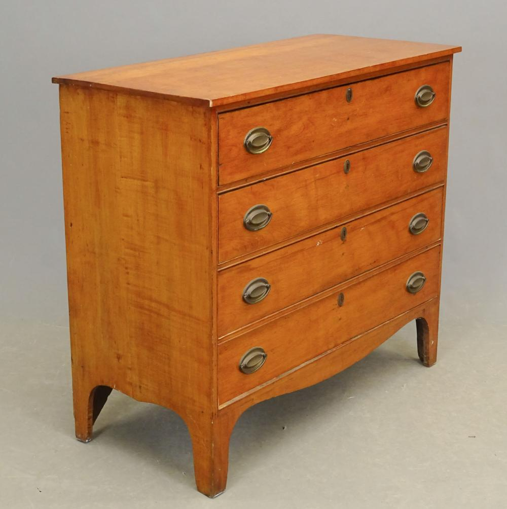 19th c. Federal Maple Chest Of Drawers