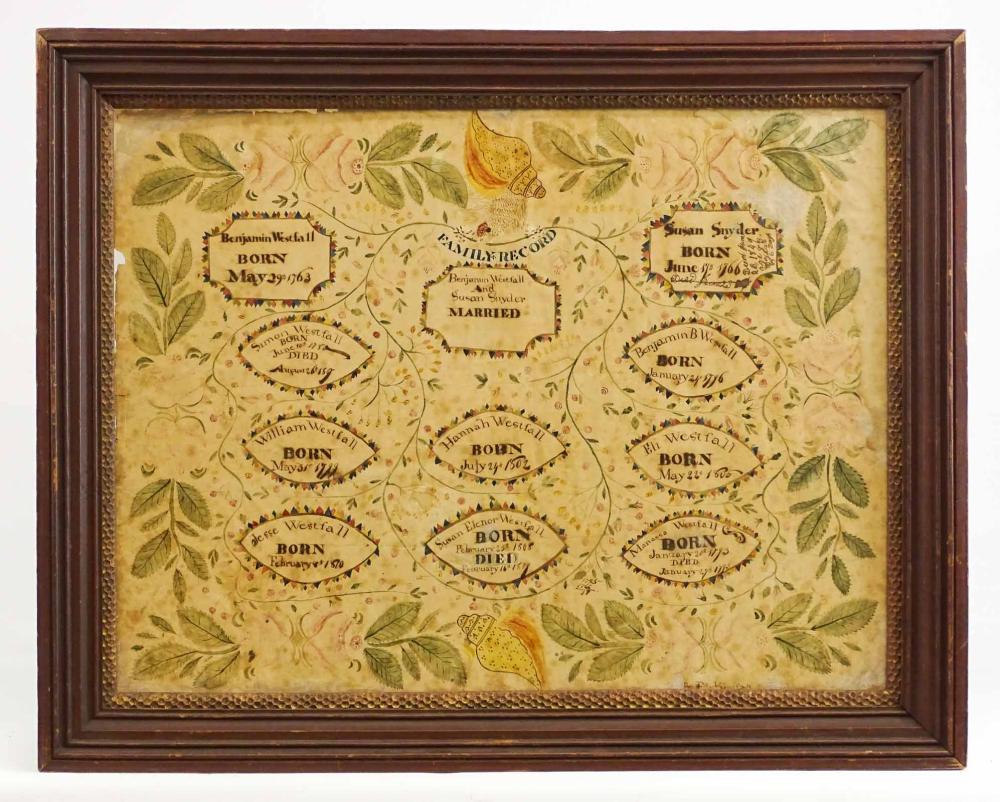 19th c. Rhinebeck New York Family Record